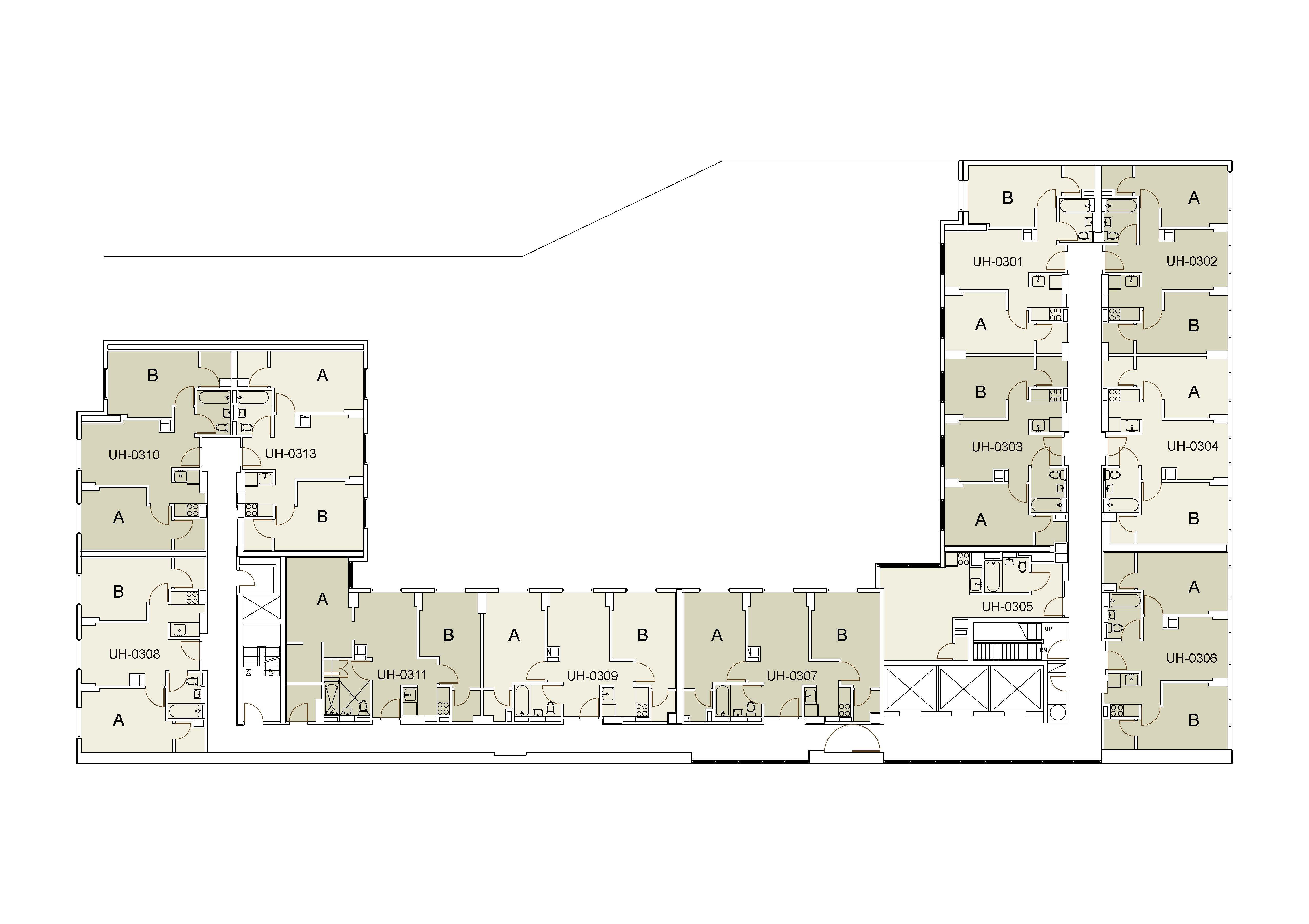 Floor plan for U Hall Floor 03