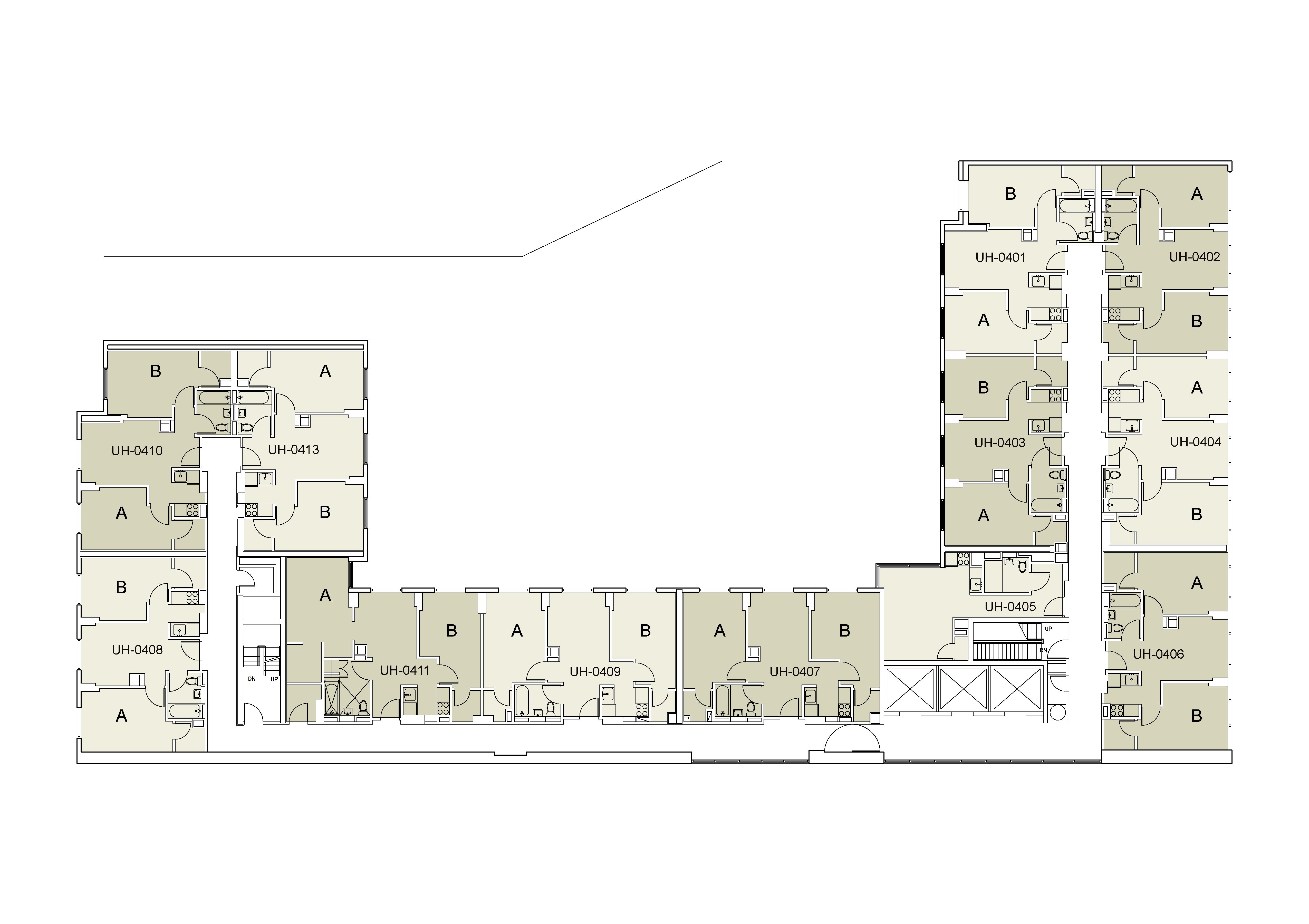 Floor plan for U Hall Floor 04