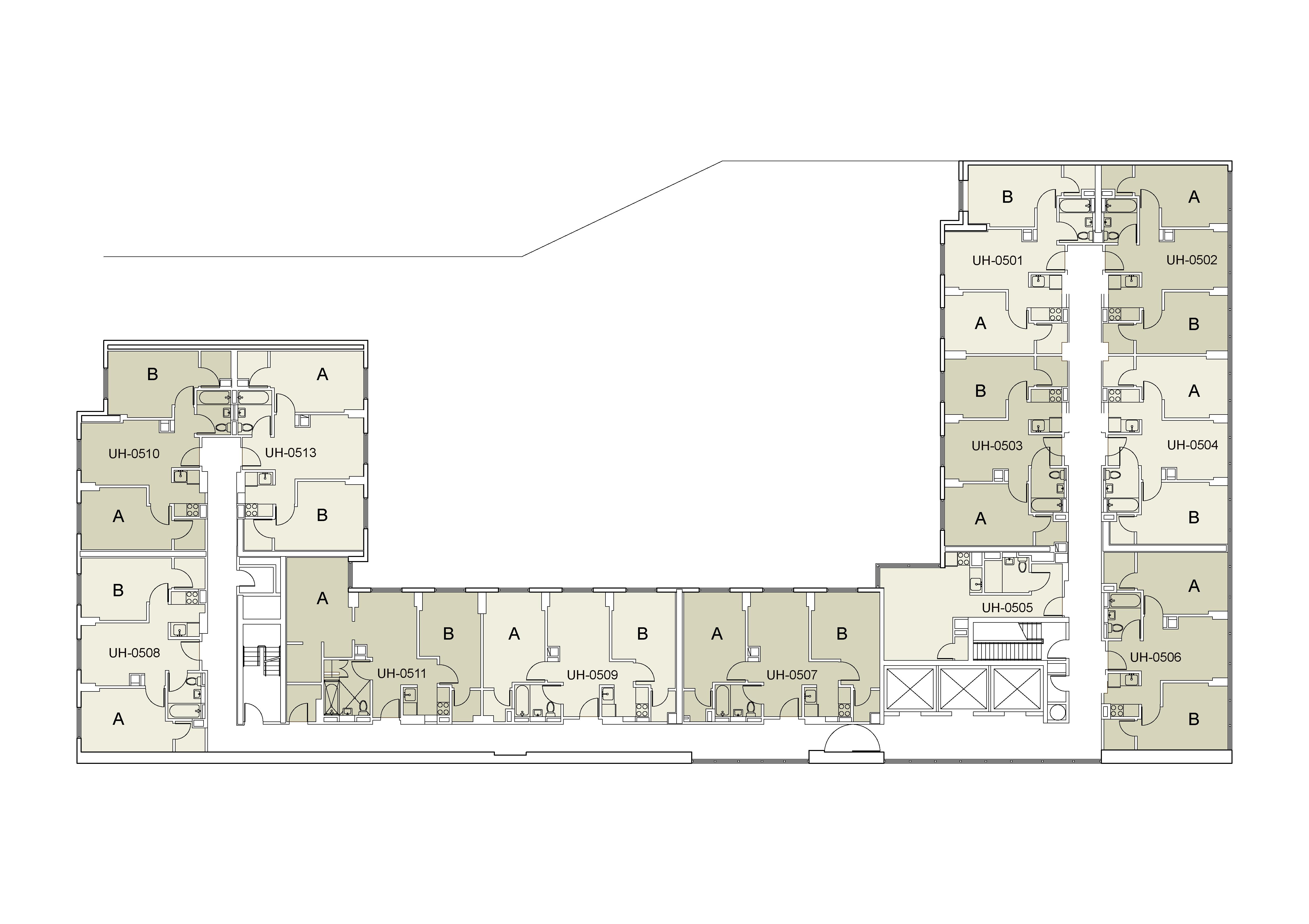 Floor plan for U Hall Floor 05