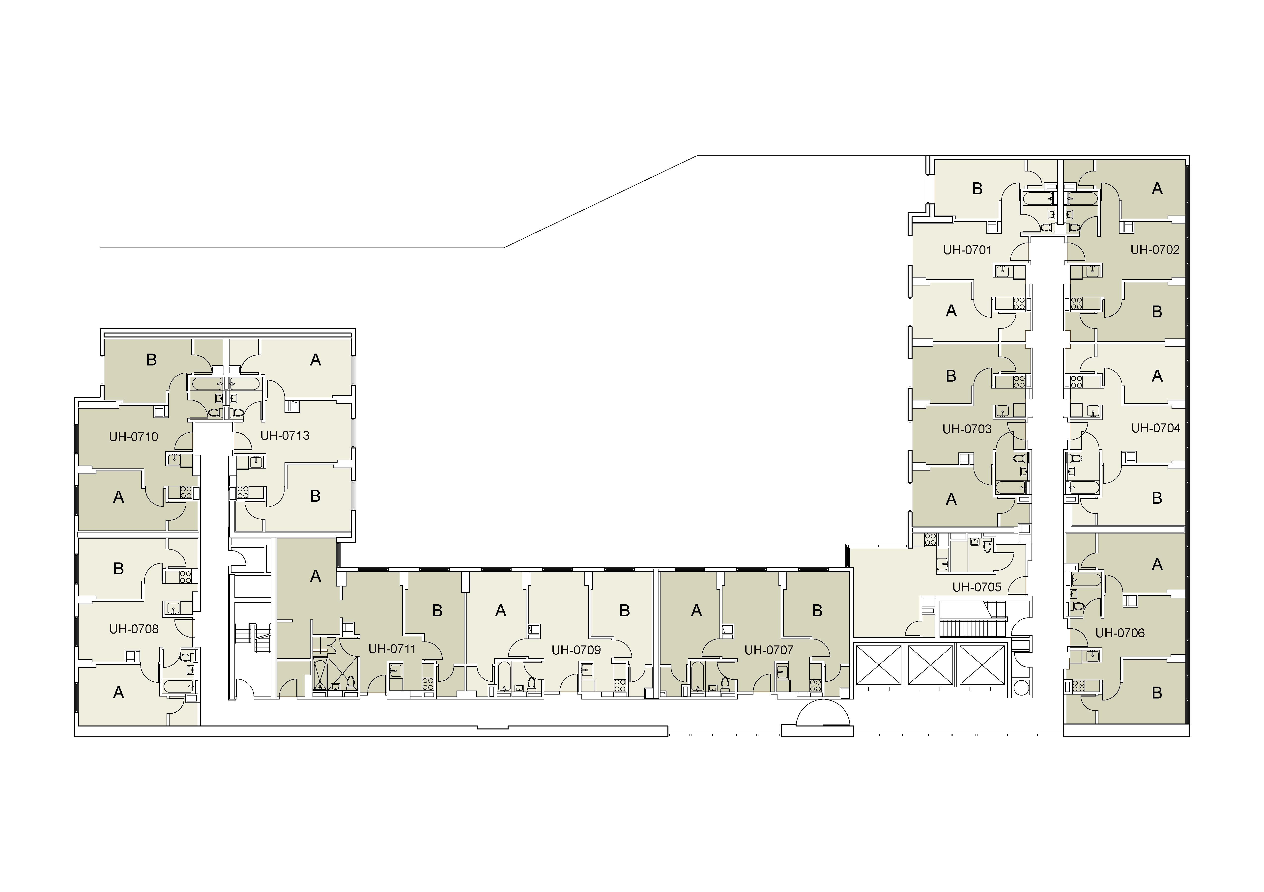 Floor plan for U Hall Floor 07