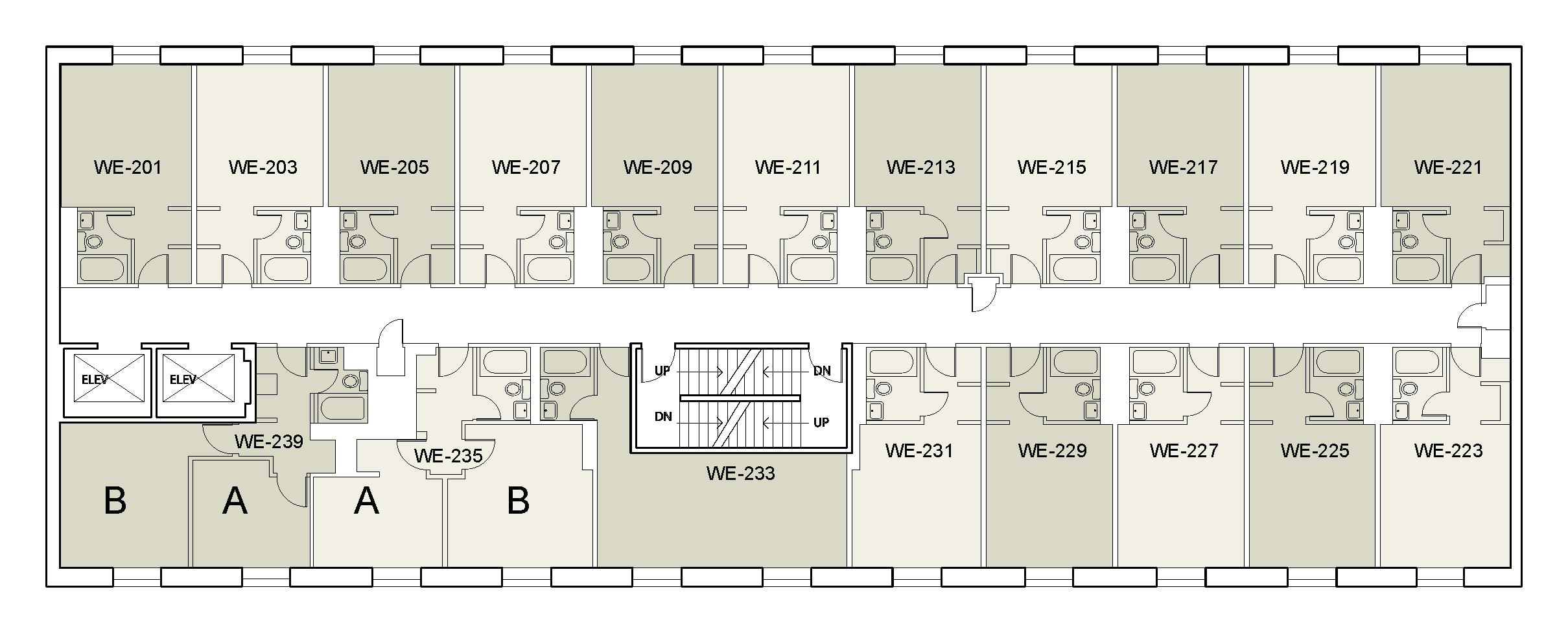 Floor plan for Weinstein Tower West 02