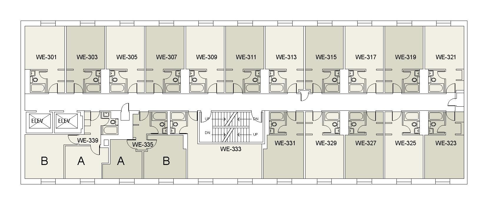 Floor plan for Weinstein Tower West 03