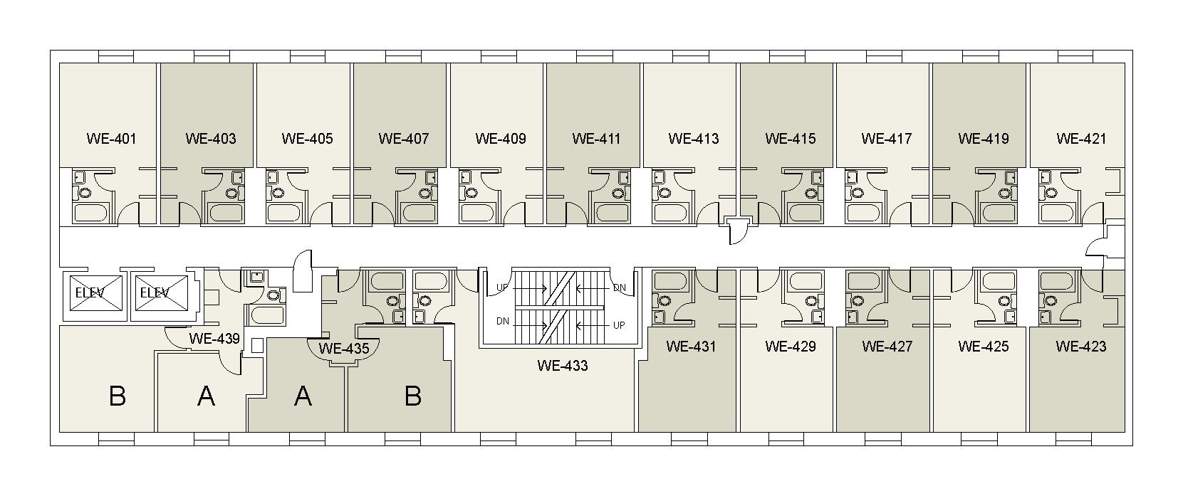 Floor plan for Weinstein Tower West 04