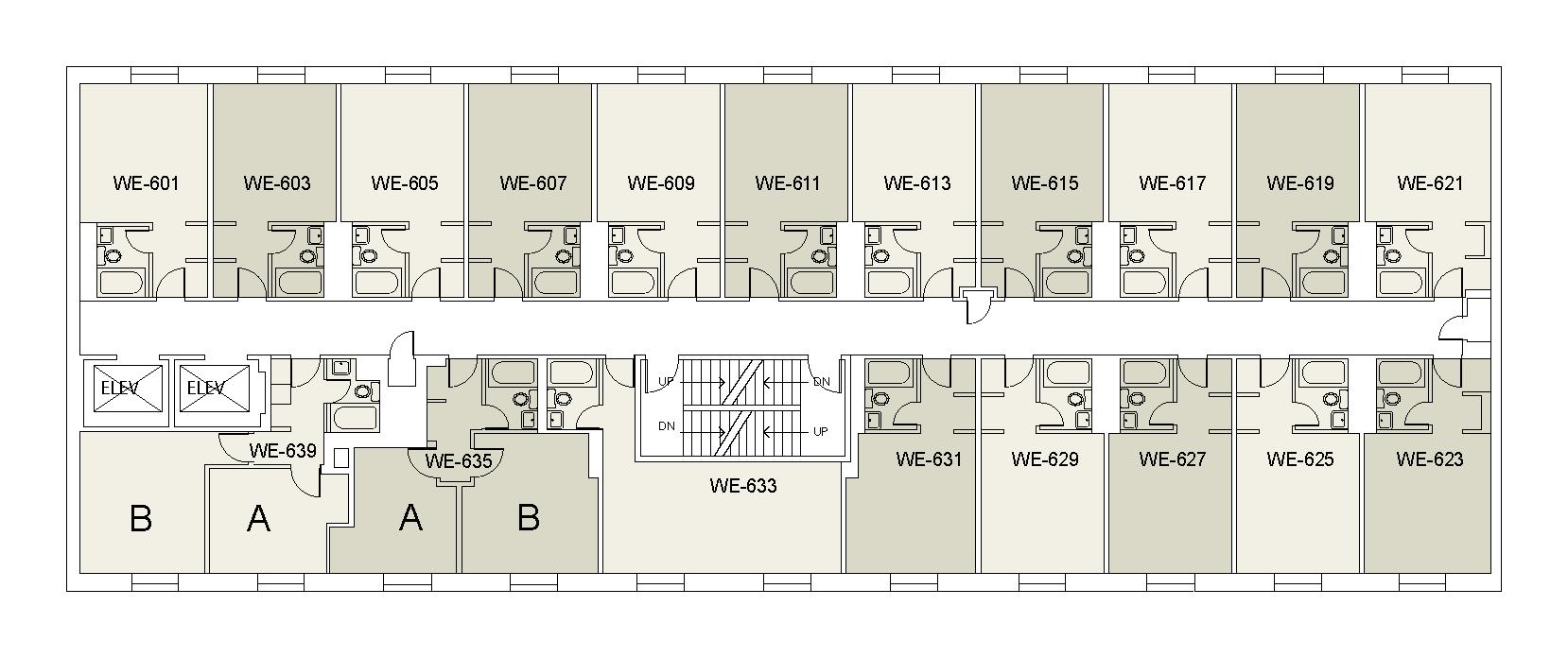 Floor plan for Weinstein Tower West 06