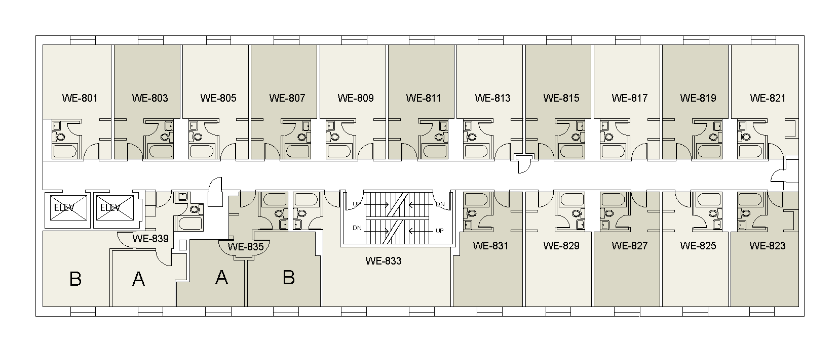 Floor plan for Weinstein Tower West 08