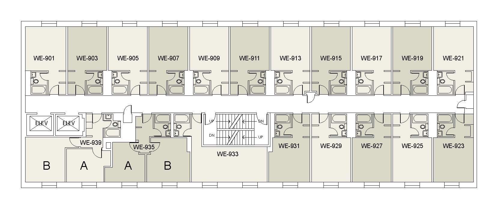 Floor plan for Weinstein Tower West 09