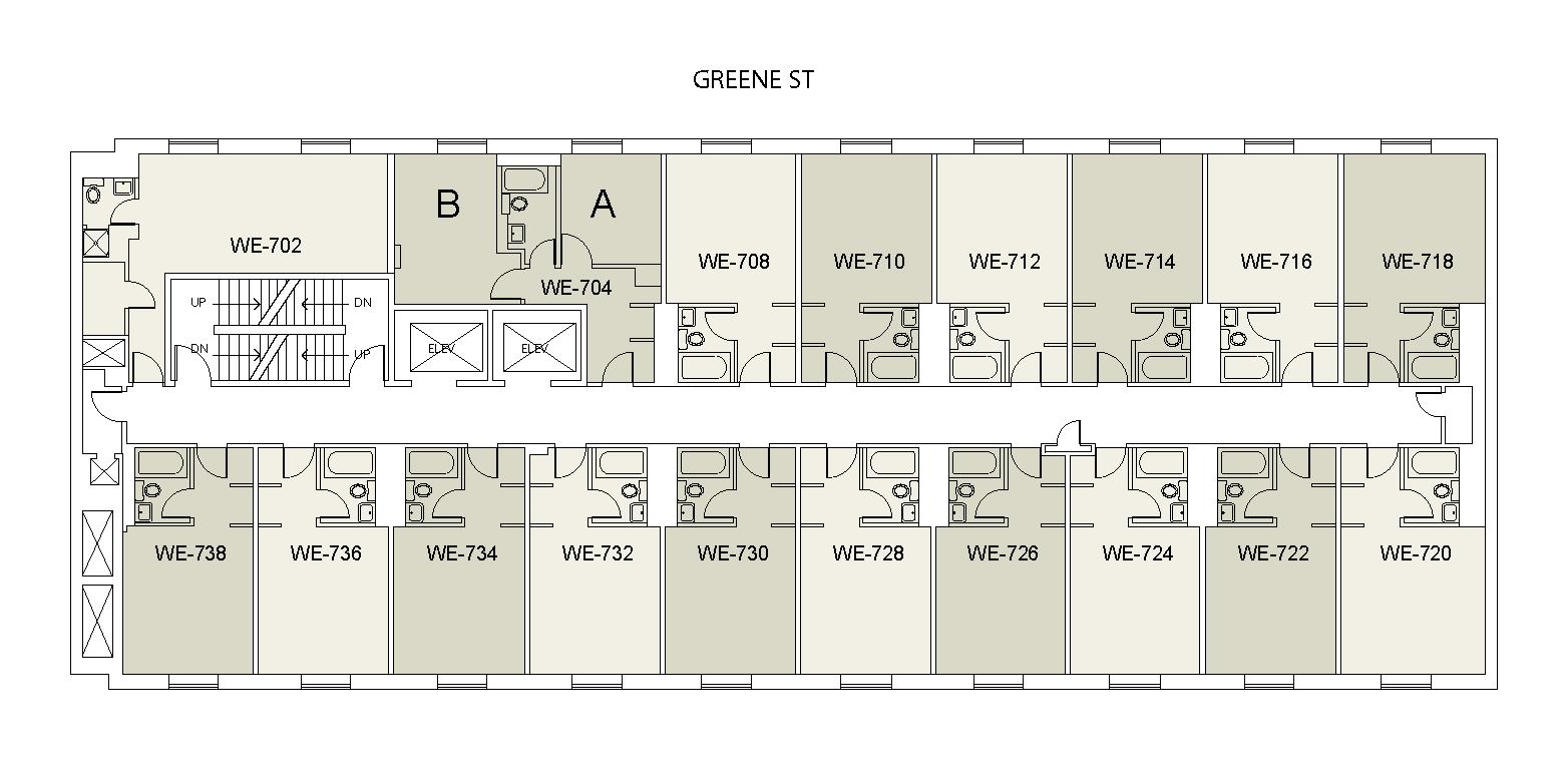 Floor plan for Weinstein Tower East 07