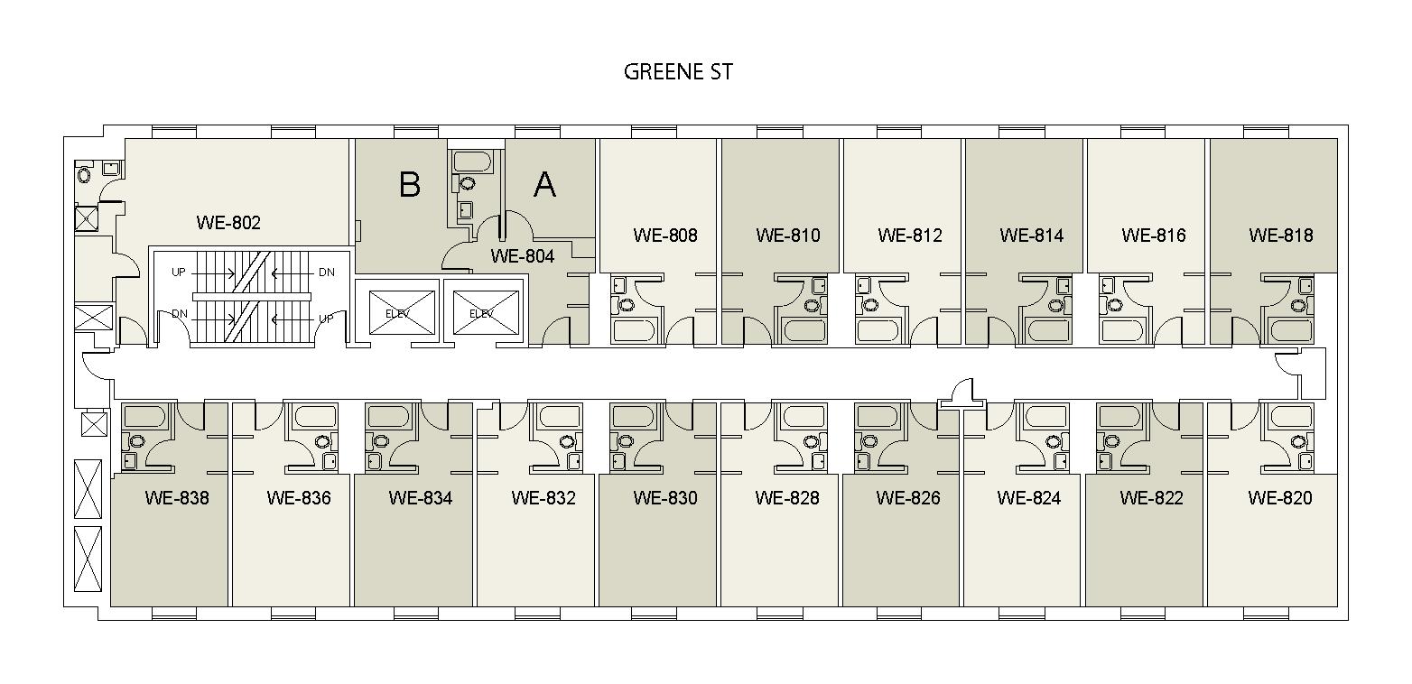Floor plan for Weinstein Tower East 08
