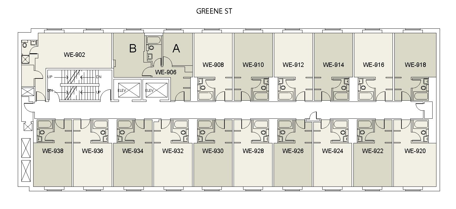 Floor plan for Weinstein Tower East 09